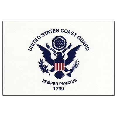 3 X 5 Flag US COAST GUARD 3'X5' USCG Seal Semper Paratus Polyester NWT New