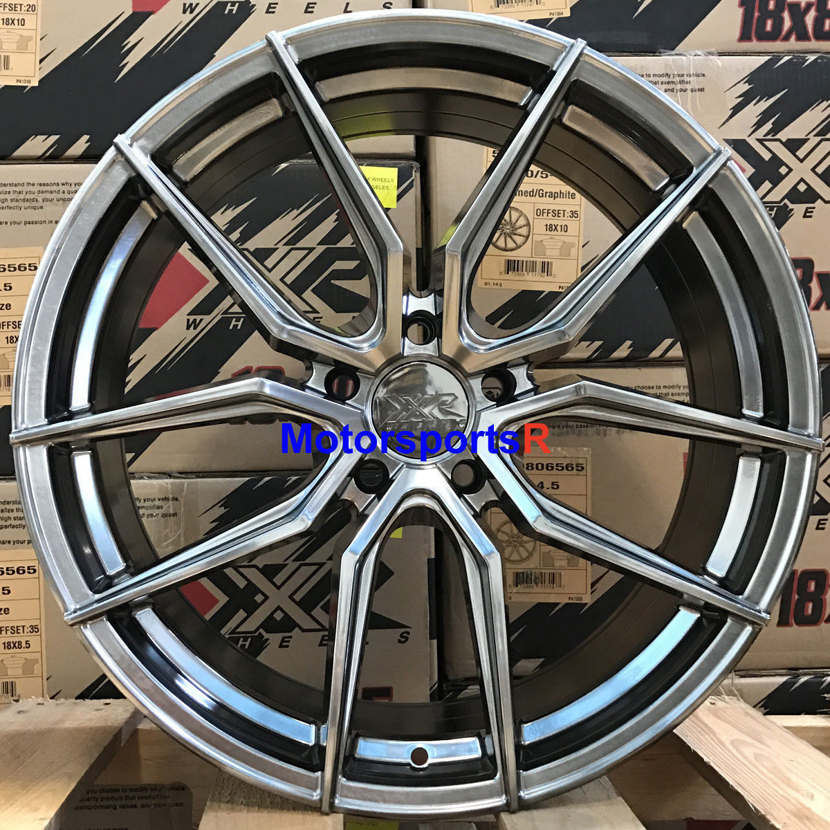 Details about XXR 559 Wheels 19 x 8 5 +40 Chromium Black Rim 5x4 5 09 Ford  Mustang GT Taurus z
