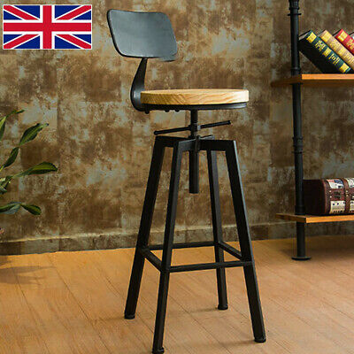Breakfast Bar Stools Seat Industrial Retro Vintage Kitchen Dining Pub Chair Gift