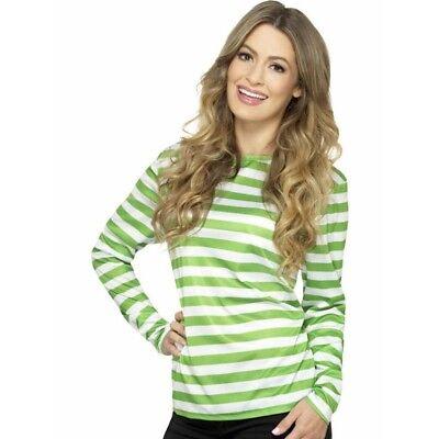 Grün und Weiß Gestreiftes Langärmliges Hemd wo Ist Waldo Kostüm Wally Punk Nyc