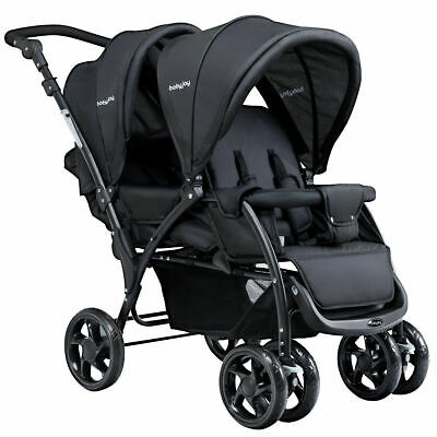 Foldable Twin Baby Double Stroller Lightweight Travel Stroll