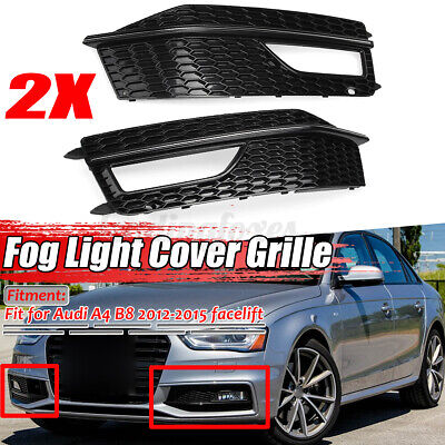 Front Bumper Fog Grille O//S Right Audi A4 2012-2015 Brand New High Quality