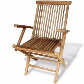 New Items- Teak Garden Chairs 2 pcs 55x60x89cm(SKU 41999)vidaXL
