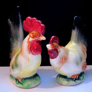 Vintage Rooster Salt and Pepper Shakers