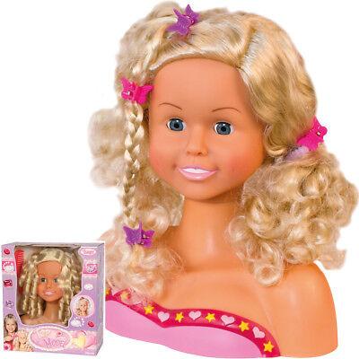 Frisierkopf Schminkpuppe Frisieren Frisierpuppe Puppen Haare Schminkkopf Kinder