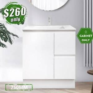*NEW* Vanity Bathroom 750mm Cabinet Finger Pull 2pack paint LUCA