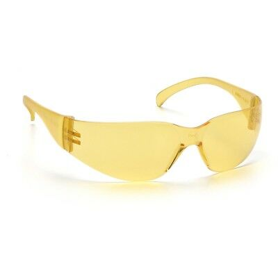 Rugged Blue Diablo Safety Glasses Yellow 1 Pair