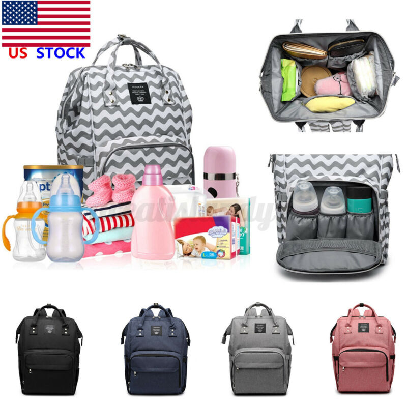 LEQUEEN Large Waterproof Baby Diaper Bag Mummy Maternity Nappy Backpack Travel