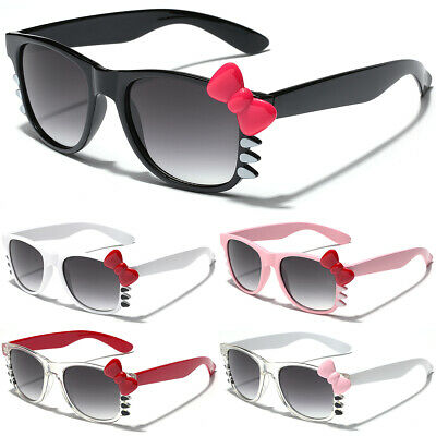 Hello Kitty Womens Ladies Sunglasses Bow Tie Party Glasses Black White Pink (Hello Kitty Sunglasses With Bow)
