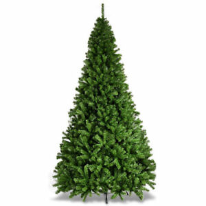 9ft pvc artificial christmas tree 2132 tips premium hinged w solid metal legs - How Much Do Real Christmas Trees Cost