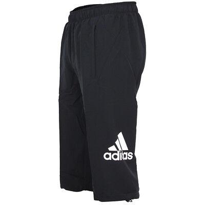adidas Herren ClimaLite 3/4 Hose Essentials Woven Logo Pant Sporthose Training