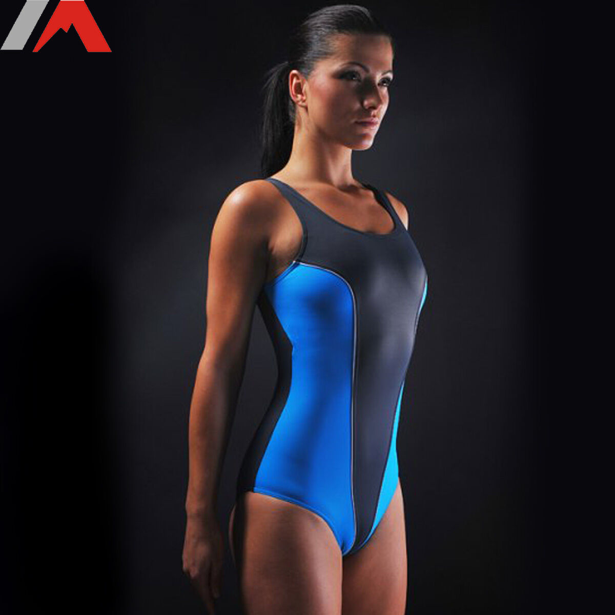 Damen Badeanzug Schwiimmanzug abnehmbare Soft Cups + Unterbrustband