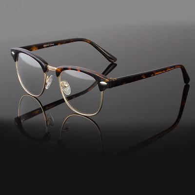 Clear Lens Fashion Glasses Retro Horn Rim Nerd Geek Men Women Hipster Eye (Retro Hipster Glasses)