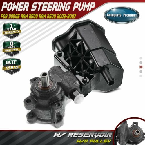 A-Premium Power Steering Pump with Reservoir for 2003-2007 Dodge Ram 2500 3500