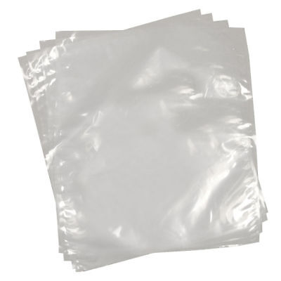 100 Clear Polythene Plastic Bags 15