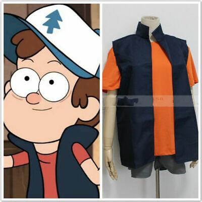 New Gravity Falls Dipper Pines Cosplay Costume {362} - Dipper Costume