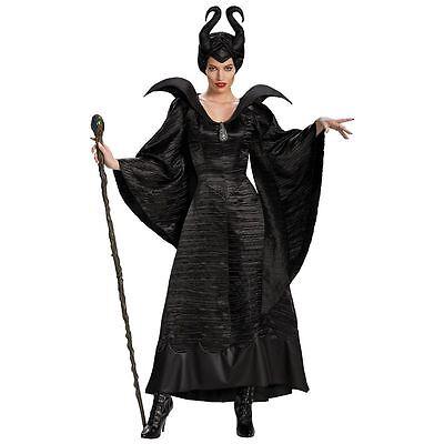 LICENSED DELUXE DISNEY MALEFICENT EVIL QUEEN HALLOWEEN COSTUME WOMEN'S - Licensed Disney Halloween Costumes