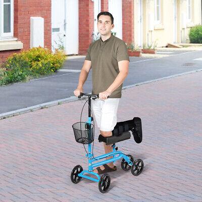 Steerable Knee Walker Deluxe Medical Kids Scooter w/ Dual Br