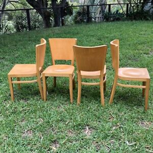 Set of 4 vintage dining chairs by FMG Poland (on hold)