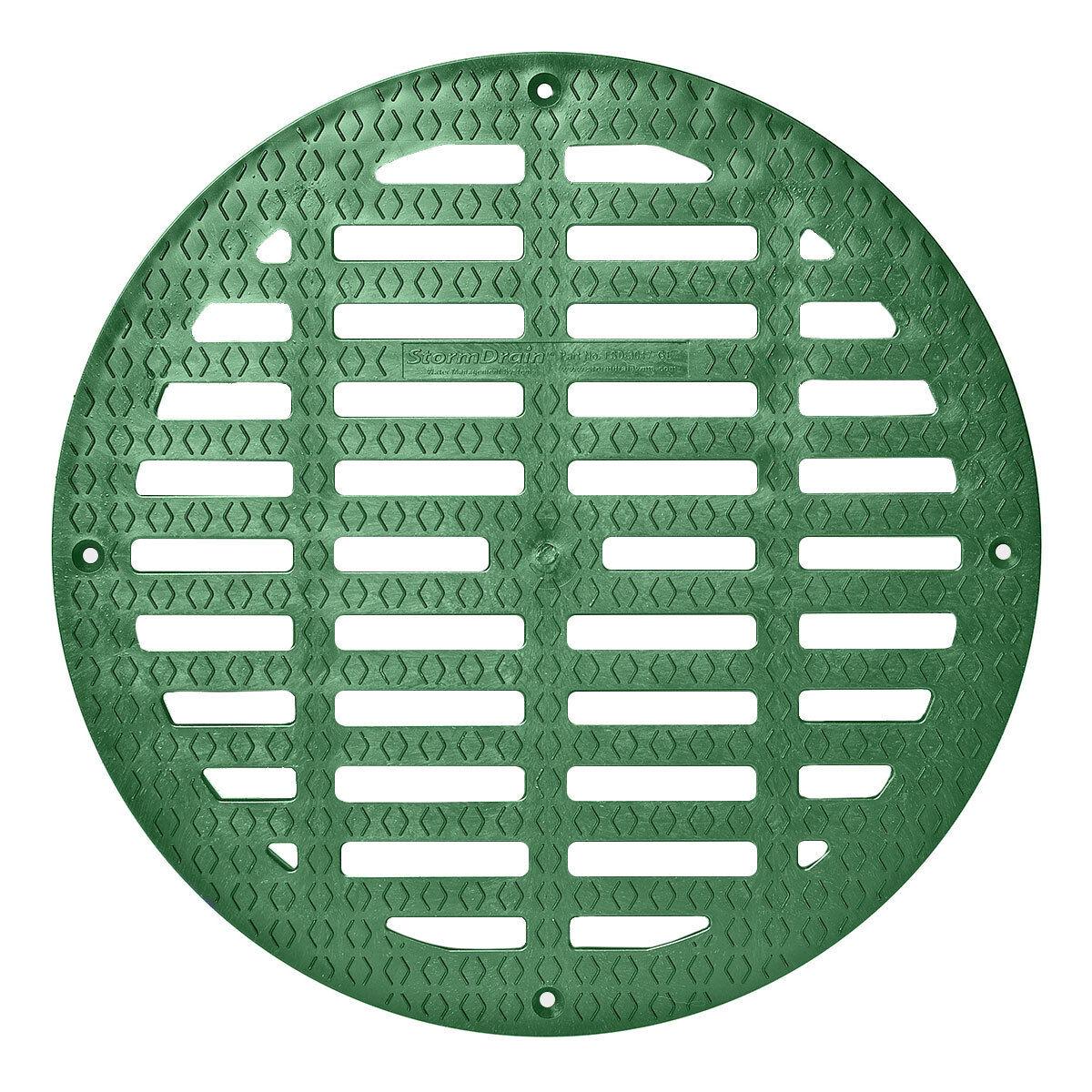 Storm Drain FSD-3017-G20G 20″ Round Flat Green Grate for Catch Basin Bath