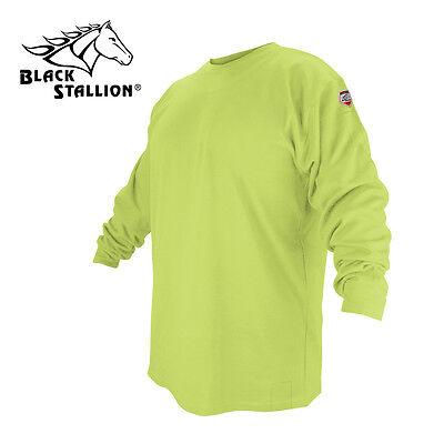 Black Stallion Ftl6-lim Lime Flame Resistant Cotton Long-sleeve T-shirt Xl