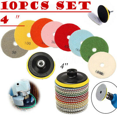 Diamond Polishing Pads Wetdry 4 Inch Set Kit Granite Concrete Marble Polishing