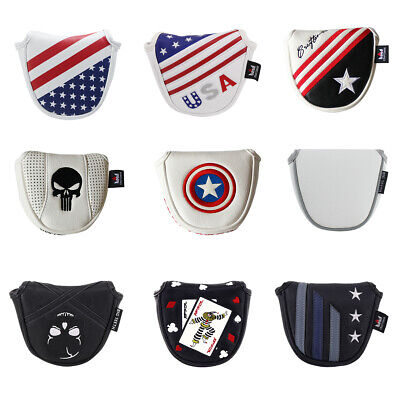 Golf Mallet Putter Cover Headcover Magnet for Heel Shaft Scotty Cameron (Mallet Putter Golf Headcover)