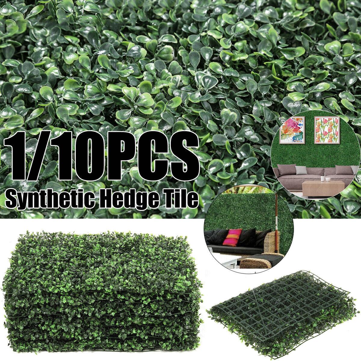 10X Künstlich Hecke Sichtschutzhecke Rasen Pflanzen Wanddekoration Sichtschutz