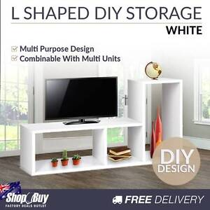 Free Delivery: L Shape Display Shelf DIY Cube TV Stand Bookshelf Moorebank Liverpool Area Preview