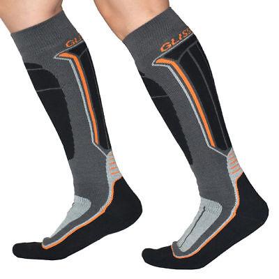 2 Pairs Men Ski Snowboard Hiking Outdoor Sports Long Soft Thermal Socks US 5-7