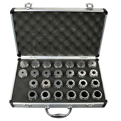 26pc. Precision Metric Er-40 Collet Set Wcase 1mm To 26mm Free Shipping Er 40