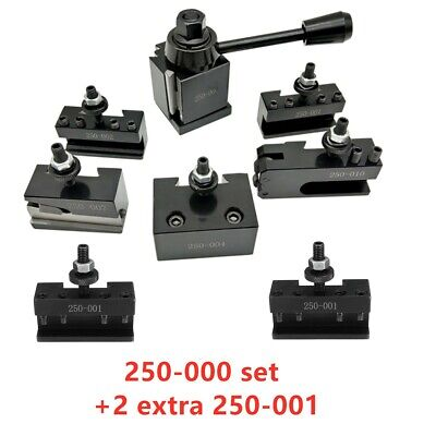 Oxa Wedge Fx250-000 Tool Post Holder Set 2 Extra 250-001 For Lathe Up To 8