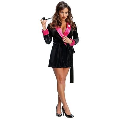 Playboy Hefner Kostüm (Playboy Bunny Costume Adult Sexy Smoking Jacket Hugh Hefner Halloween)