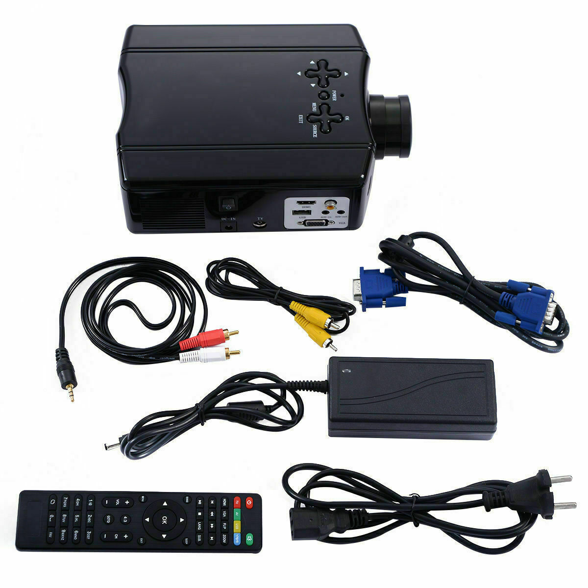 Mini 3D LED Portable Home Theater Projector 4000 Lumens HD 1
