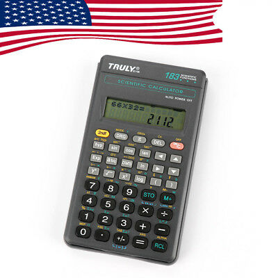 Truly US Ship SC-118B LCD Scientific Calculator Electronic 183 Functions Student
