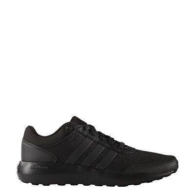 Mens Adidas NEO Cloudfoam Race Black Sneaker Athletic Sport Shoes B74372 10-12.5 ()