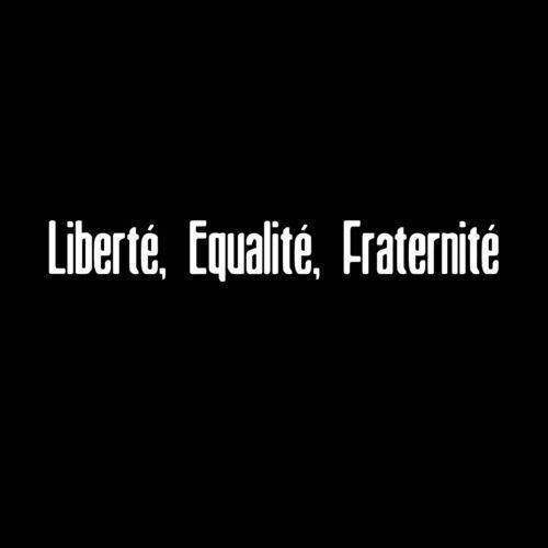 Liberte Equalite Fraternite Masonic Vinyl Decal - White 6 Inch