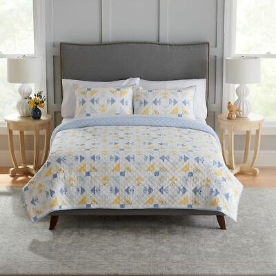 New Croft & Barrow Sarah Reversible Cotton Quilt Size King/Cal King MSRP $139.99