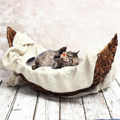Photography Prop Handmade Crescent Woven Basket Newborn Baby Infant Boat Box New