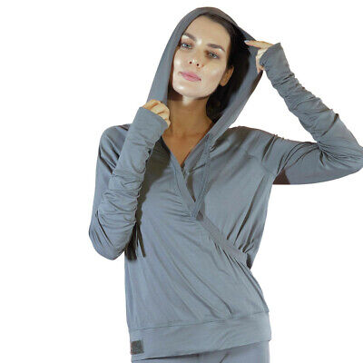 FACEPLANT DREAMS Bamboo® Crossover Hoodie - Earl Grey Size Large (Bamboo Crossover)