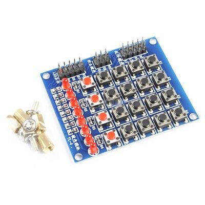 4x4 44 Matrix Switch Keyboard Push Button Module 8 Led For Arduino Avr Arm