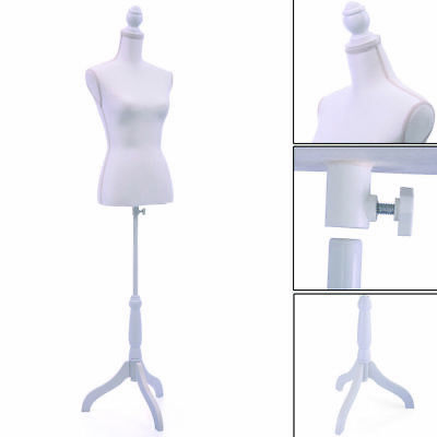 White Mannequin Female Torso Clothing Display W Dress Form Maniquin
