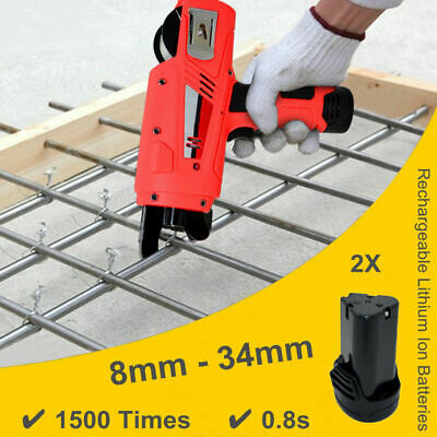 Automatic Handheld Rebar Tier Tool Building Tying Strapping Machine 8-34mm