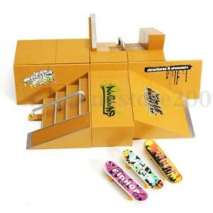 Ultimate Skate Park Ramp Parts For Tech Deck Fingerboard Finger Board Kids Toys