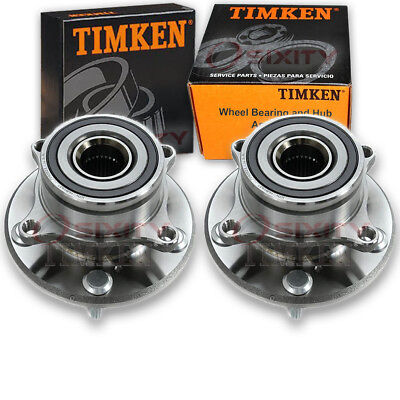 Timken Acura Wheel - Timken Front Wheel Bearing & Hub Assembly 2007-2013 Acura MDX Pair Left oq