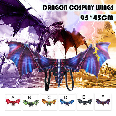 3D Halloween Cosplay Dragon Wing Decor Suit Mardi Gras Party Dinosaurio
