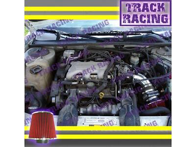 1996 1997 1998 1999 CHEVY MONTE CARLO 3.1L V6 AIR INTAKE KIT Black Red