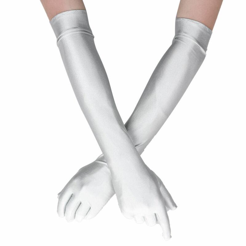 1Pair Women Soft Stretchy Long Arm Sleeve Fingerless Gloves for Outdoor Keep Warm Sun Block