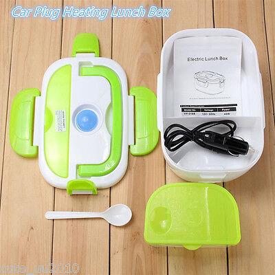 12V Electric Heated Car Plug Heating Lunch Box Set Outdoor Picnic Food Warmer