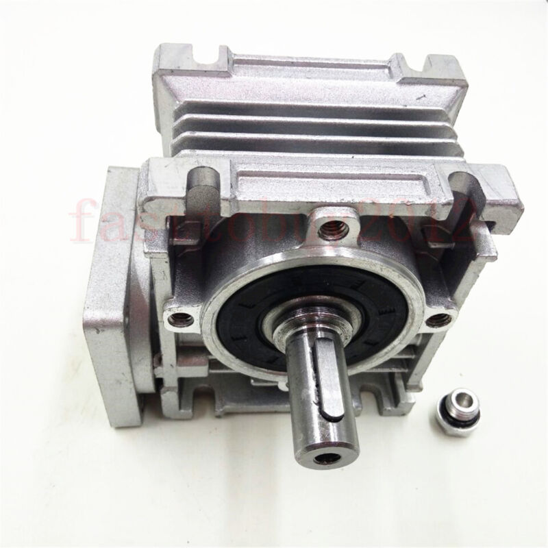 Flange 56B14 Worm Gearbox Geared Speed Reducer for Motor 10//15//20//25//30//50//100:1